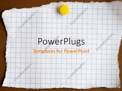 attached note card template powerpoint template reminder note attached to the wall