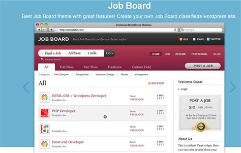 theme wordpress job board top 10 wordpress job board plugins themes for wordpress
