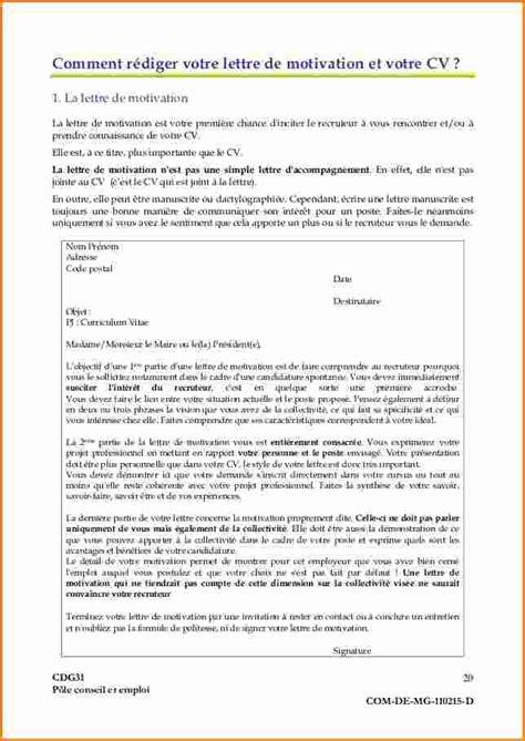 Demande De Titularisation Lettre 7 Lettre De Motivation Fonction Publique Exemple Lettres