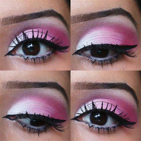 tutorial makeup eyeshadow pink pink and white makeup tutorial rubyluvsmakeup youtube