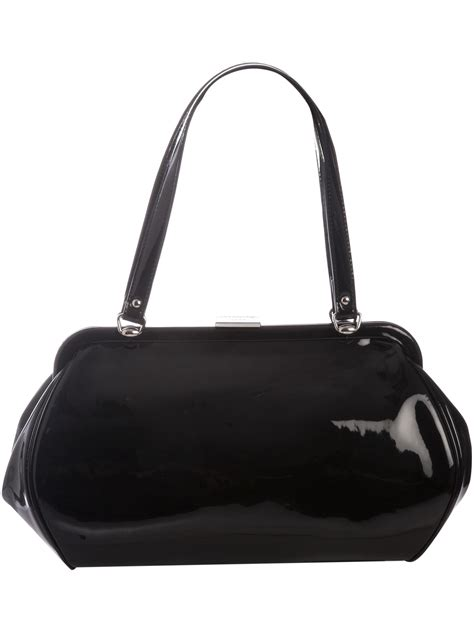 Lulu Guinness Lucille Snake by Lulu Guinness Lucille Large Patent Leather Handbag