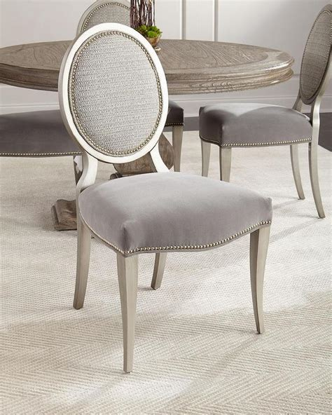 nailhead dining chair grey charcoal grey nailhead accented side chairs
