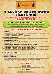party menu 171 ay caramba