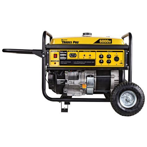 trades pro 174 5000w 6000w portable generator 13hp 837543