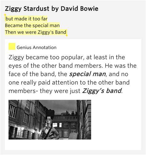 s day lyrics david bowie meaning ziggy stardust david bowie lyrics meaning