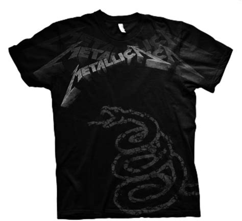 Metallica Black T Shirt official t shirt metallica black 1991 album faded all sizes