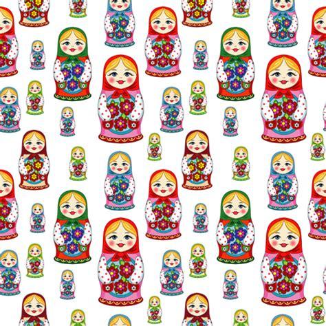 russian pattern vector pattern russian doll seamless vector vector pattern free