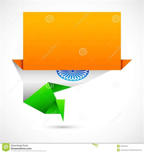 Origami Paper India - indian flag origami stock photo image 25649760