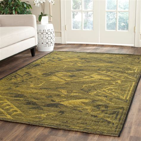 Green And Black Area Rugs by Black Green Safavieh Power Loomed Palazzo Area Rugs