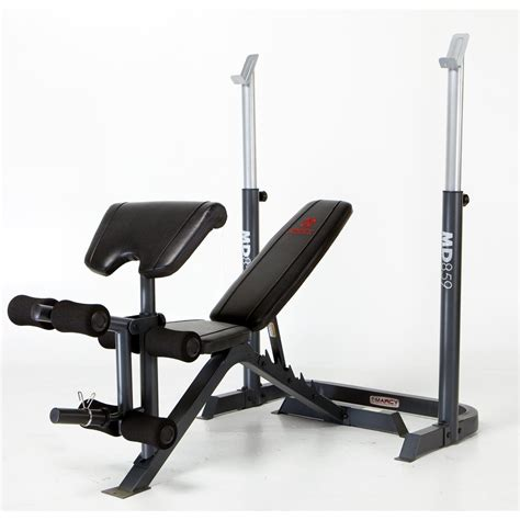marcy mid size bench marcy 174 mid size bench with rack 170731 at sportsman s