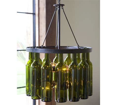 Wine Bottle Chandelier Pottery Barn Bottle Chandelier Diy