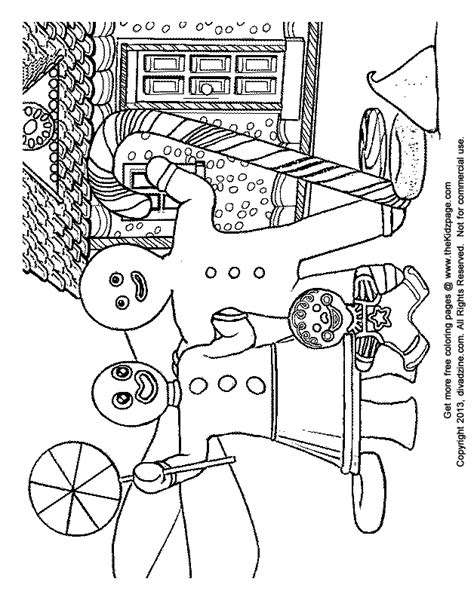 Coloring Pages Gingerbread Family | gingerbread family free coloring pages for kids