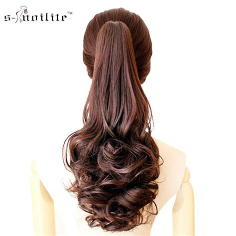 hair extensions curvy wavy clip pony in fashion snoilite synthetic claw on ponytail clip in pony