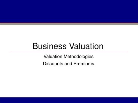 Business Valuation by Ppt Business Valuation Powerpoint Presentation Id 232148