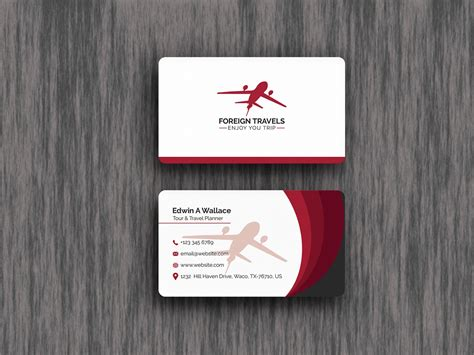 travel agency business card design template techmix