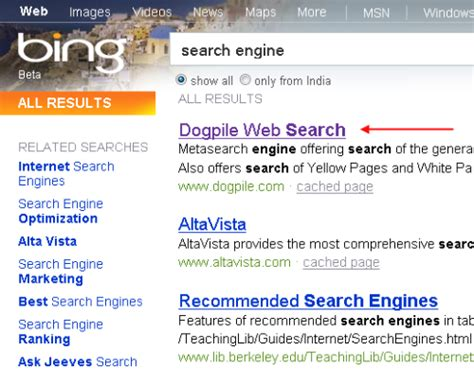 Search Engine Search What Search Engines To Say About Quot Search Engine Quot