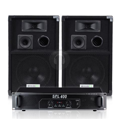 Speaker Subwoofer 200 Watt ekho 2x 200 watt vx8 8 inch speakers and spl 400 power lifier disco dj ba ebay