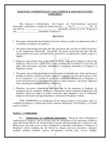 Confidentiality And Non Compete Agreement Template by Noncompete Agreement