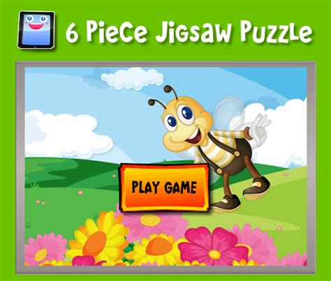 printable jigsaw puzzle for kids bee jigsaw bumble bee 6 piece jigsaw puzzles for ipad and other tablets