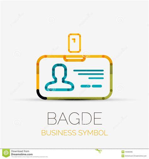 name tag design company name tag company logo business symbol concept stock