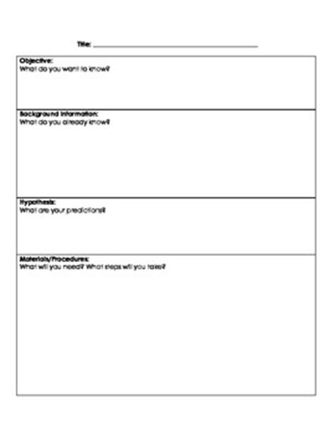 basic layout of a scientific report using the scientific method lab report template by