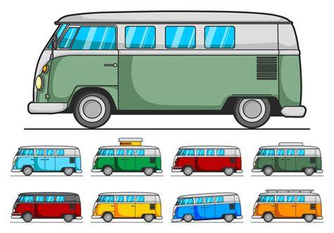 volkswagen bus clipart vw cer vector pack download free vector art stock