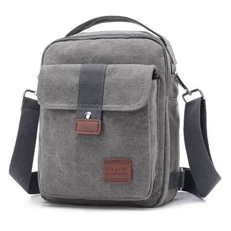 Nes Messenger Bag by New Crossbody Bag Canvas Small Quality Canvas Grey