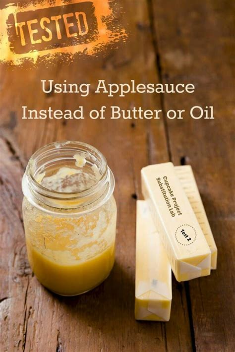 applesauce   butter  oil substitute cupcake project substitution lab test