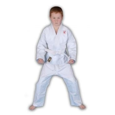 Stamina Shin Guard Gold white cotton judo gi