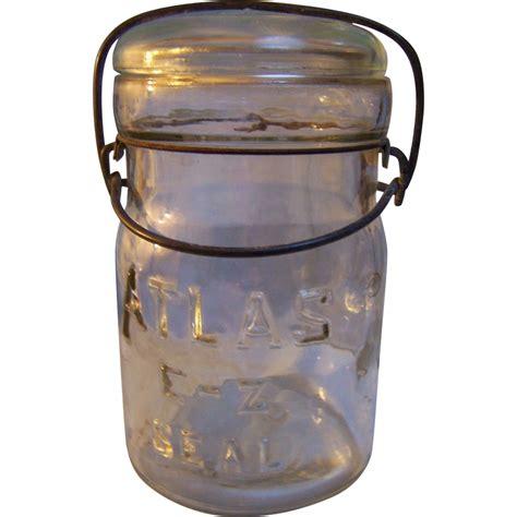 hazel atlas canning jars clear set of 2 from rubylane sold on ruby lane