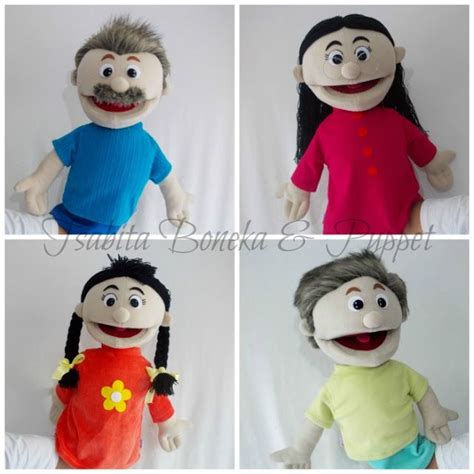 Boneka Tangan Family family movable puppet halfbody http www