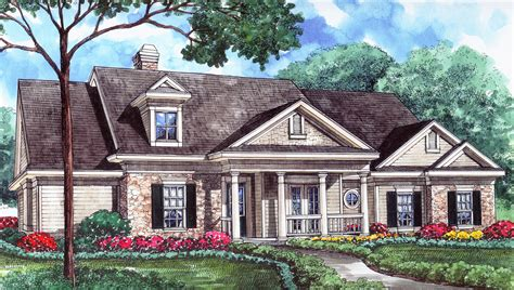 Genteel House Plan With Central Rotunda 67003gl 1st | genteel house plan with central rotunda 67003gl 1st