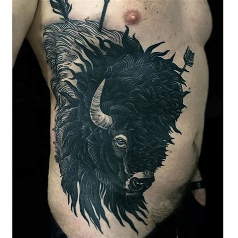 buffalo tattoo by rakov buffalo buffalotattoo bison