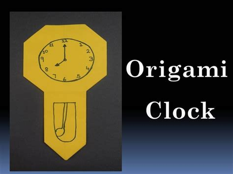 How To Make An Origami Clock - how to make an origami clock