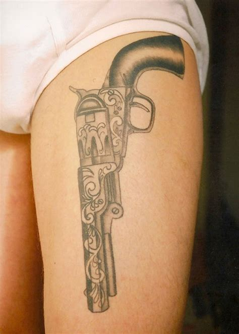 revolver tattoo designs 15 best gun designs with meanings styles at