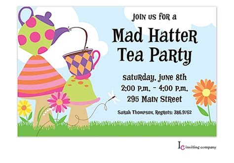 mad hatter card template free tea invitation template diabetesmang info