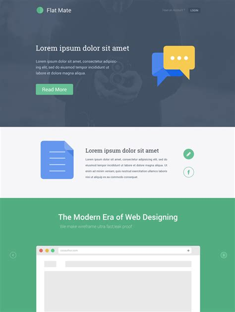 10 free flat design websites templates