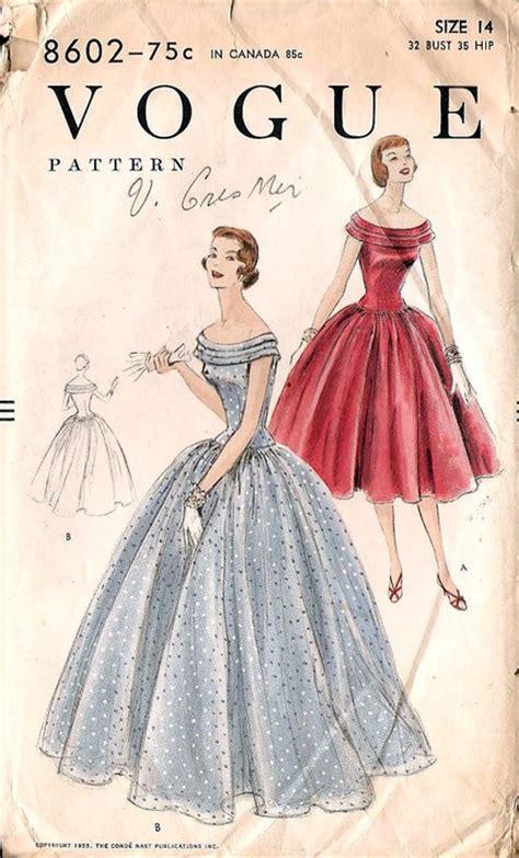 Retro Desk Vogue 8602 Vintage Sewing Patterns Fandom Powered By Wikia
