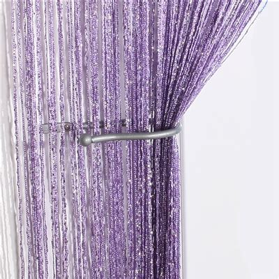 string curtain panel voile panels jazz giltter string curtain panel lilac