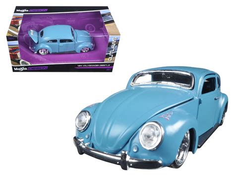 Diecast Maisto Outlaws 125 Vw Samba Grey volkswagen beetle blue quot outlaws quot 1 24 diecast model car by maisto