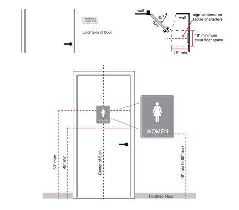 handicap height requirements 28 ada restroom sign height requirements ada
