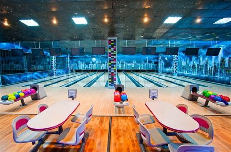 Wall Murals For Teenagers interior of a bowling center stock photo colourbox