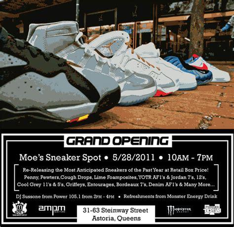 moe sneaker spot grand opening moe s sneaker spot in new york this