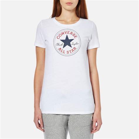 converse s chuck patch crew t shirt converse white