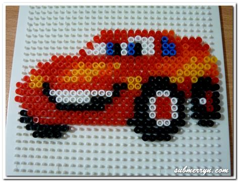 bead car pyssla lightning mcqueen 171 home is where my is