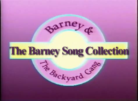 barney and the backyard gang theme song the barney song collection custom barney episode wiki
