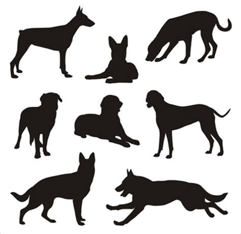 dog silhouette free vector download 6 054 free vector