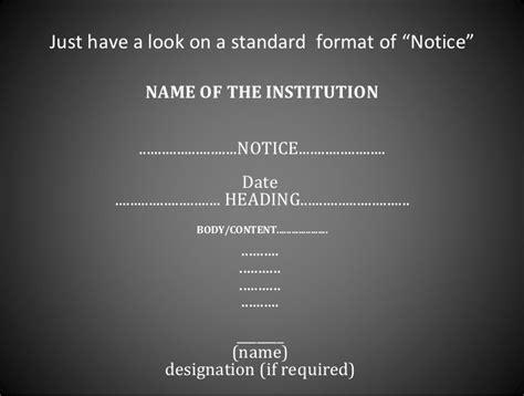 notice writing format aseena notice writing format fifth sa2