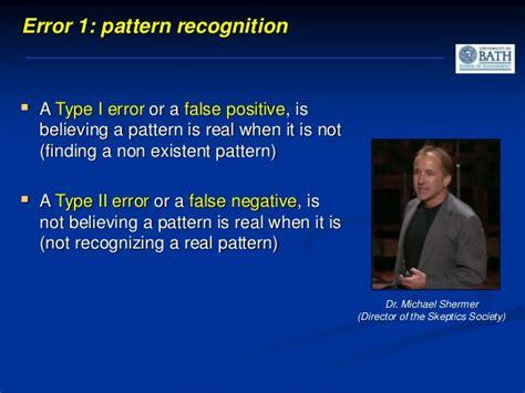 pattern recognition bias bath university taster event evidence based decision making