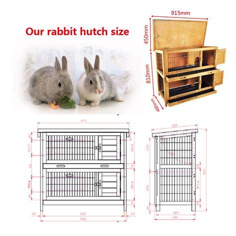 What Size Should A Rabbit Hutch Be rabbit hutch 2 run guinea pig hutches run 3 tier decker ferret cage ebay